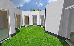 Bungalow Mit Atrium : atrium 4 bungalow einfamilienhaus neubau massivbau stein auf stein ~ Frokenaadalensverden.com Haus und Dekorationen
