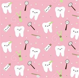 Happy Teeth & Friends - Light Piink fabric - clayvision ...
