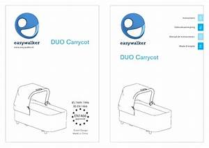 Easywalker Duo Carrycot User Manual Usa English