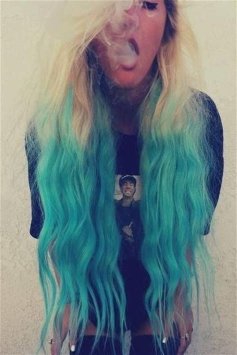 Beautiful Turquoise Ombre Hair H A I R Pinterest