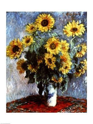life  sunflowers  fine art print  claude