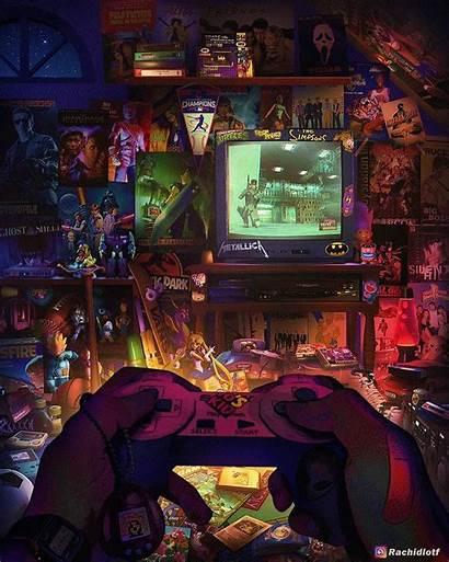 Gaming Retro Games 90 Kid Artwork 90s