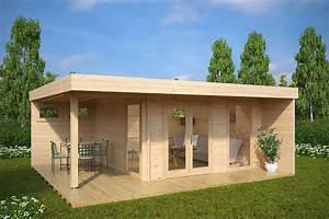 Gartenhaus Mit Terrasse : modernes gartenhaus mit terrasse hansa lounge xl 15m 44mm 5x6 hansagarten24 ~ Whattoseeinmadrid.com Haus und Dekorationen