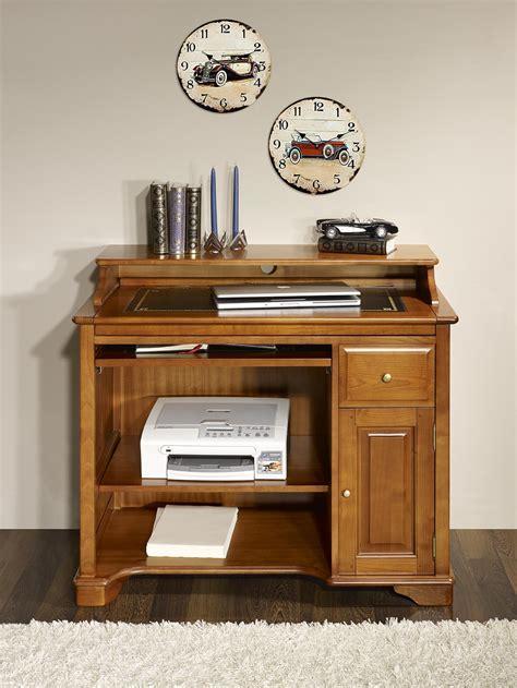 bureau merisier massif petit bureau informatique elise en merisier de style louis