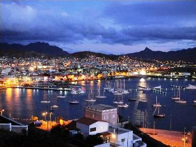 Mindelo Bay at Night, Sao Vicente, Cape Verde | Mindelo ...