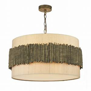 Rustic wooden look ceiling pendant british made great