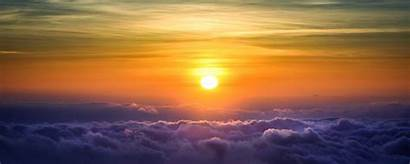 Clouds Above Sunset Sky Nature