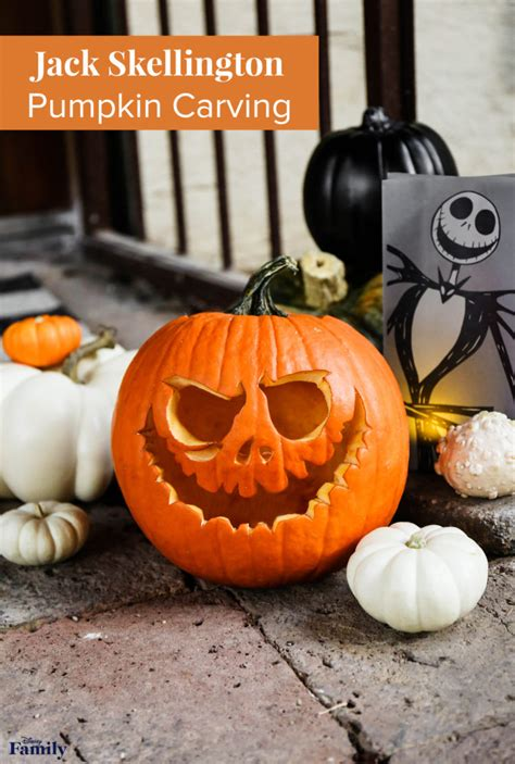 jack skellington pumpkin carving disney family