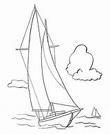 Coloring Sailboat Pages Boats Yacht Colouring Boat Sailing Sail Printable Template Sheets Popular Ship Sketch Templates Ships Preschool Simple Library sketch template