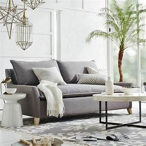 deco moderne pour le salon 85 idees avec canape gris With tapis moderne avec refaire ses coussins de canapés