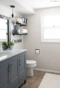 Ikea Gray Curtains by 20 Best Farmhouse Bathrooms To Get That Fixer Upper Style