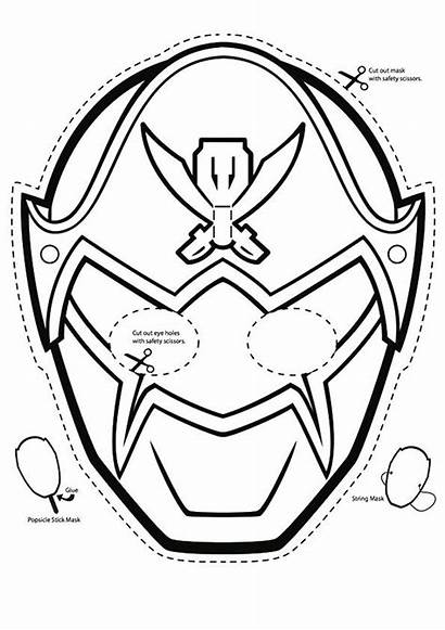 Coloring Rangers Power Pages Megaforce Mask Ranger