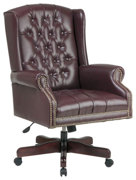 office deluxe high back traditional executive chair