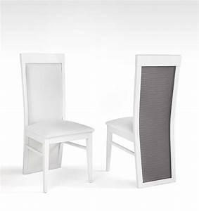 Chaise Blanche Et Grise : chaise blanche et grise haute bois pliante milano baro ~ Teatrodelosmanantiales.com Idées de Décoration