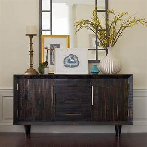 manning modern rustic burnished black wood media console With dark wood media console