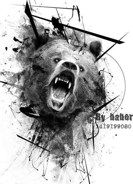 медведь трэш полька - Поиск в Google   Татуировки, Татуировки медведя и Тату