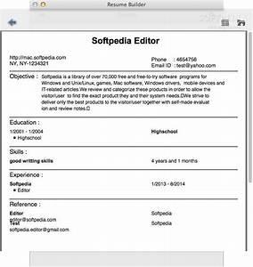Resume builder for mac resume ideas for Free resume builder for mac