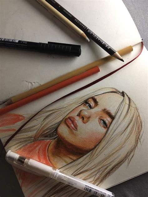 resultado de imagem  drawing billie eilish billie eilish billie celebrity drawings