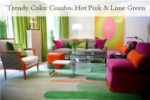 not just kitchen ideas trendy color combo pink lime green