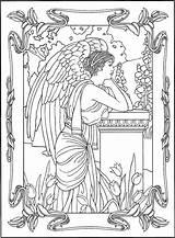Coloring Angel Angels Adult Printable Colorear Angles Colouring Adultos Dibujos Coloriages Adultes Fairy Fantastique Mandala Angeles Coloriage Lienzos Pintados Demon sketch template