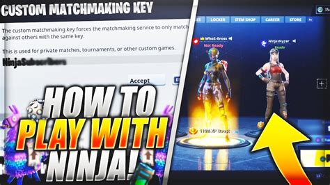 What is the custom matchmaking key for fortnite battle royale
