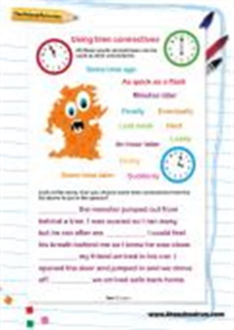 time worksheet new 740 time connectives worksheets activities