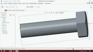 Adding Thread To Bolt In Creo Parametric  2 0  3 0  5 0