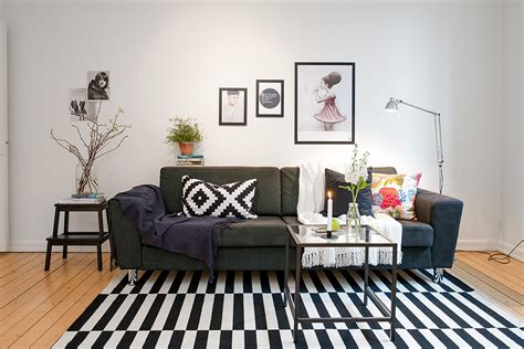 Cute apartment with simple black and white decor