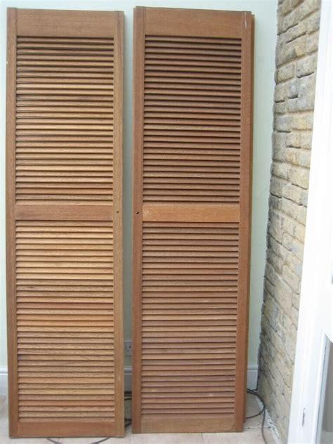 Louvre Door Cupboards by Cheap Pair Wood Louvre Doors Diy Cupboard Wardrobe Shutter