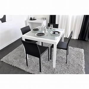 Table Carrée Blanche : table salle a manger carree extensible lertloy com ~ Teatrodelosmanantiales.com Idées de Décoration