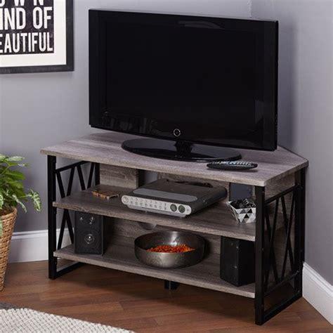 jaxx blackgrey corner tv stand  tvs