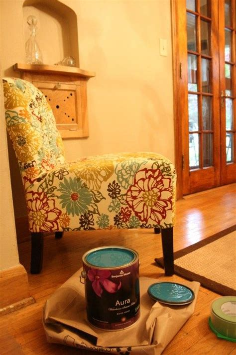teal red gold cream brown lime green dining room
