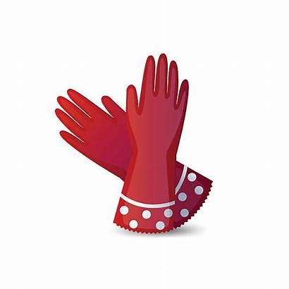 Gloves Vector Gardening Clip Garden Illustrations Rubber