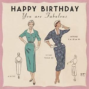 Paris Fashion Birthday Card Price - £1.00 Available - 30 ...