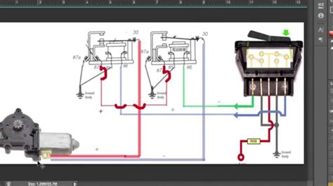 cara memasang relay power window