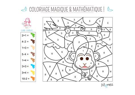 chambre de garcon de 6 ans coloriage magique et mathématique le singe momes
