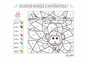 Angle Magique Outil De Construction : coloriage magique et math matique le singe ~ Dailycaller-alerts.com Idées de Décoration