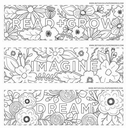 Bookmarks Printable Coloring Read Printables Grow Reading