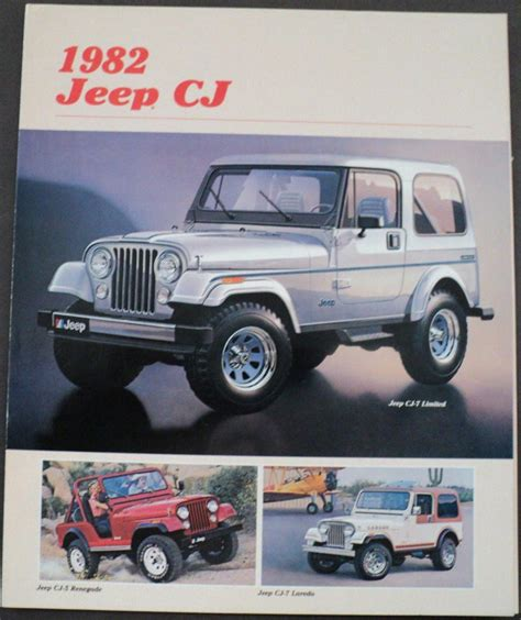 renault jeep 1982 amc jeep renault dealer accordion sale brochure