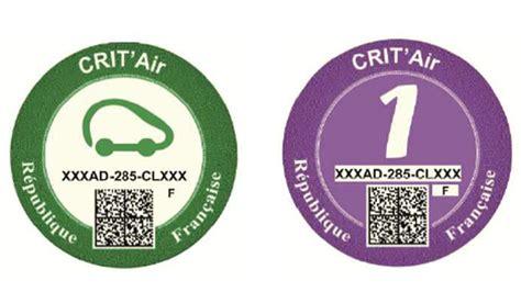 crit air 1 les certificats crit air arrivent au 1er juillet 2016