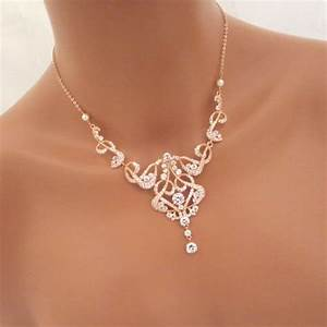 17 best ideas about rose gold statement necklace on With collier mariage swarovski