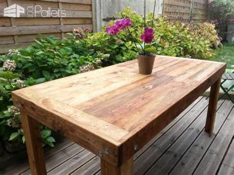 table cuisine palette table à manger en bois de palettes reclaimed pallets