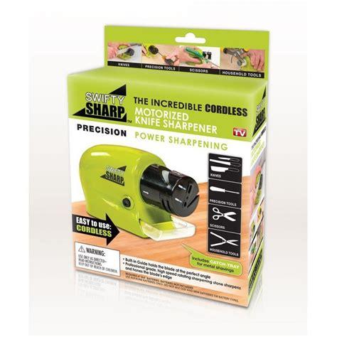 swifty sharp motorized cordless knife sharpener in