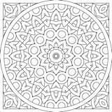 Coloring Pattern Circle sketch template