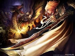 Dragon Slayer , anime, cape, cool, dragon, girl, knight ...
