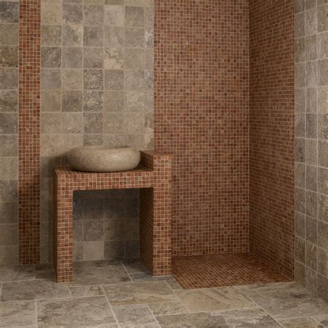 carreaux mosaique salle de bain mosa 239 que travertin indoor by