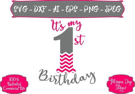 Hello crafters, i hope everyone enjoyed my first free paper flower template & tutorial! First Birthday SVG - It's My First Birthday SVG - Chevron ...