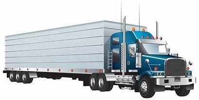 Truck Semi Clipart Clip Trucks Transparent Cartoons