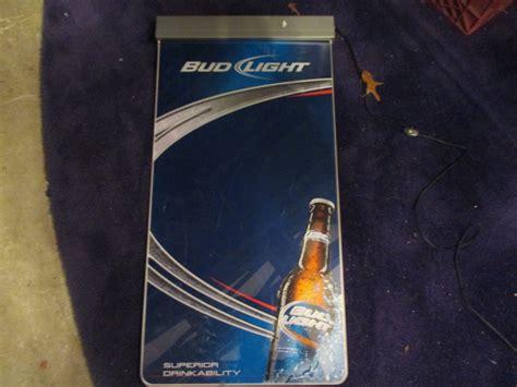 Vintage Light Up Bud Light Dry Eraser Board Barware Bar