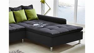 Couch Mit Großer Liegefläche : ecksofa montego sofa mit ottomane dunkelgrau kissen gr n ~ Bigdaddyawards.com Haus und Dekorationen